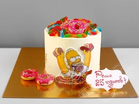 Вкусные торты Барта Симпсона007