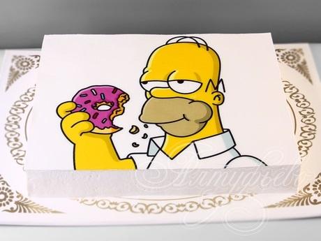 Вкусные торты Барта Симпсона015