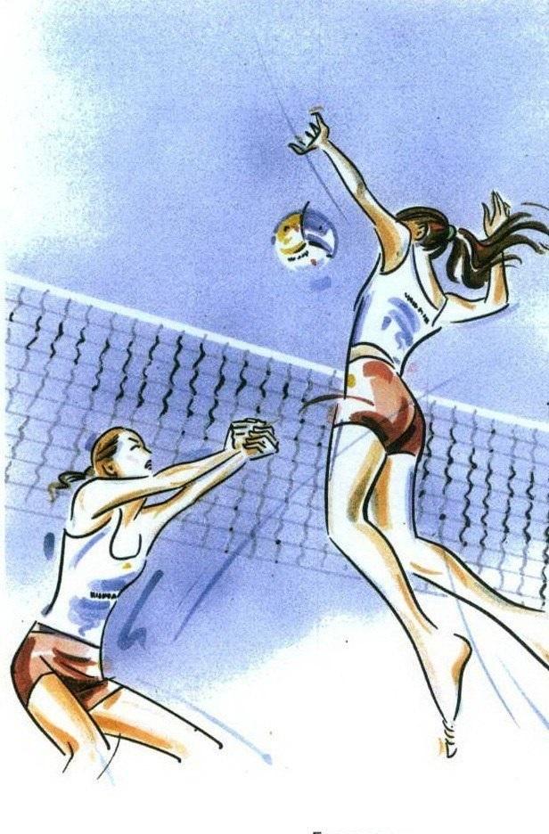 Волейбол нарисованные картинки007