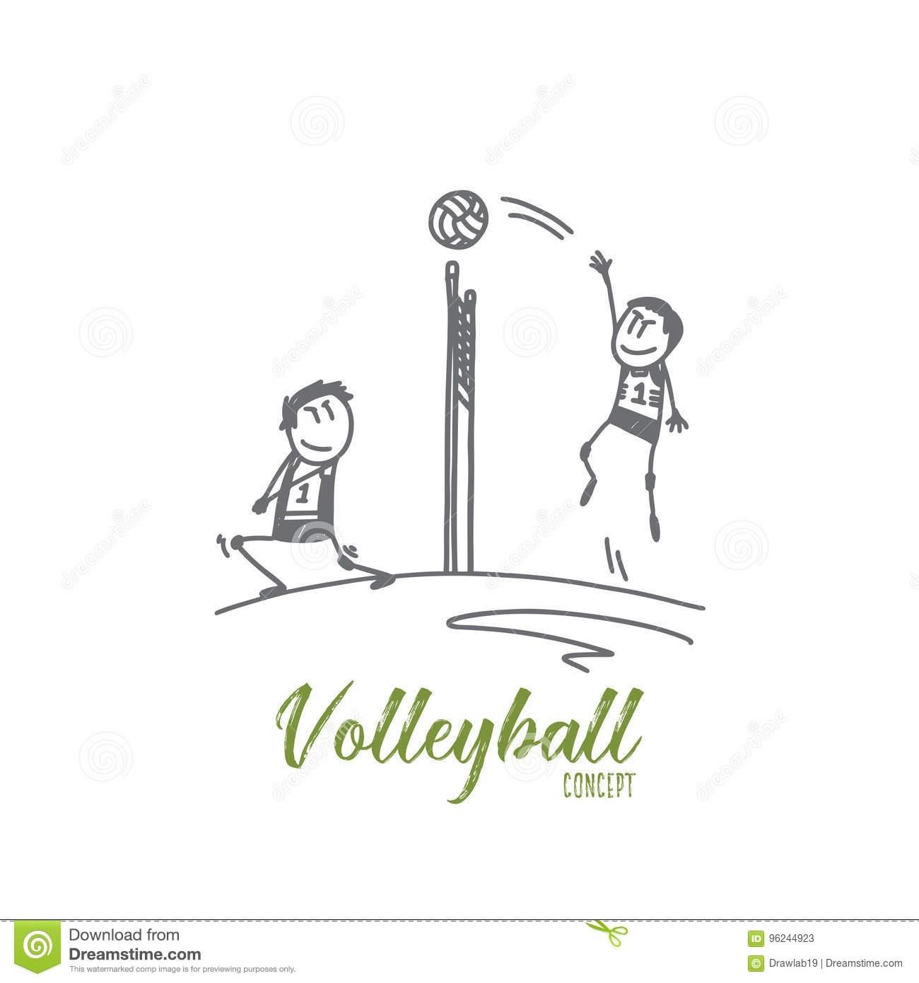 Волейбол нарисованные картинки015
