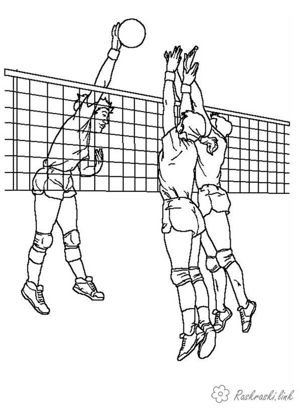 Волейбол нарисованные картинки022