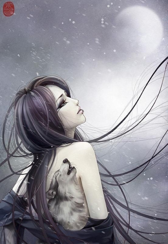Волчица девушка арт004