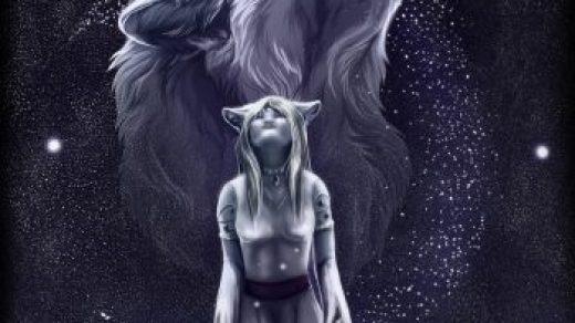 Волчица девушка арт005