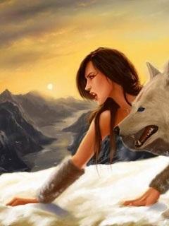 Волчица девушка арт010
