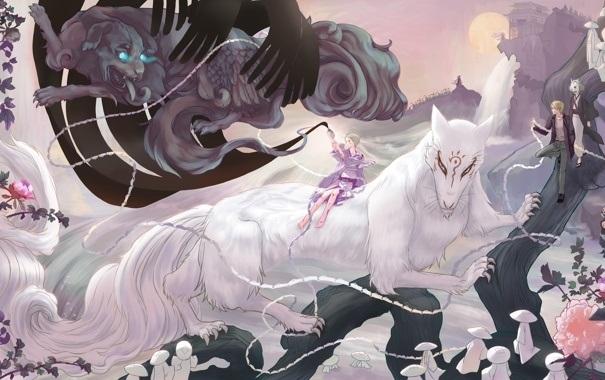 Волчица девушка арт011