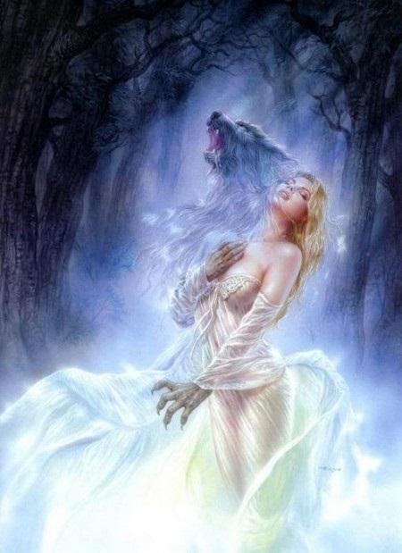 Волчица девушка арт012