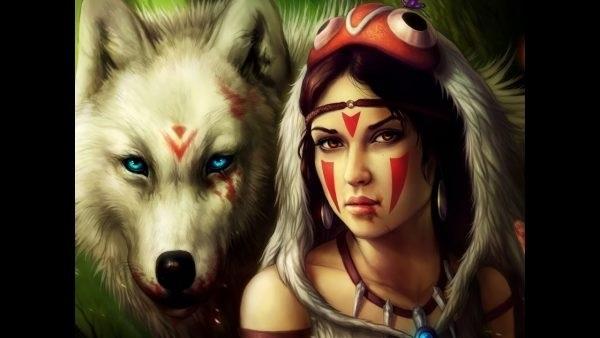 Волчица девушка арт016
