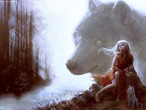 Волчица девушка арт017