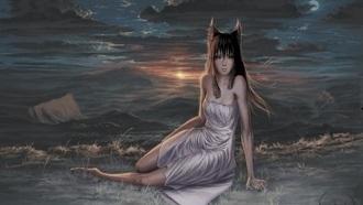 Волчица девушка арт019