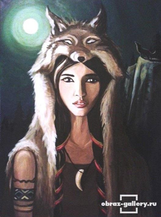 Волчица девушка арт021