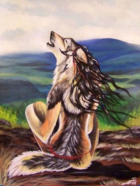 Волчица девушка арт024