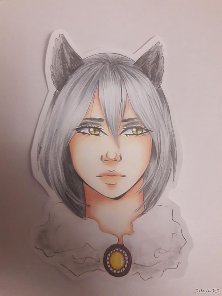 Волчица девушка арт025
