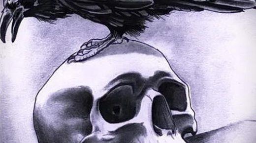 Ворона рисунок тату и эскизы007