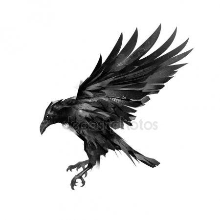 Ворона рисунок тату и эскизы012