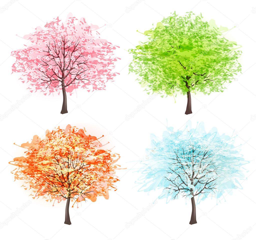 Времена года зима весна лето осень (10)