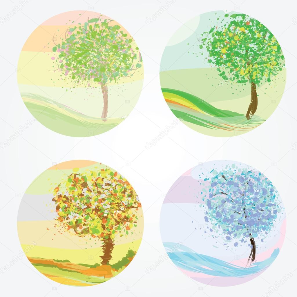Времена года зима весна лето осень (14)