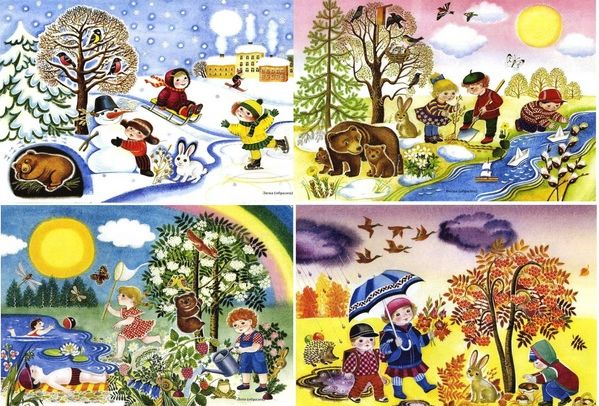 Времена года зима весна лето осень (16)
