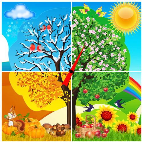 Времена года зима весна лето осень (9)