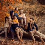 Групповая осенняя фотосессия — удивительные фотографии
