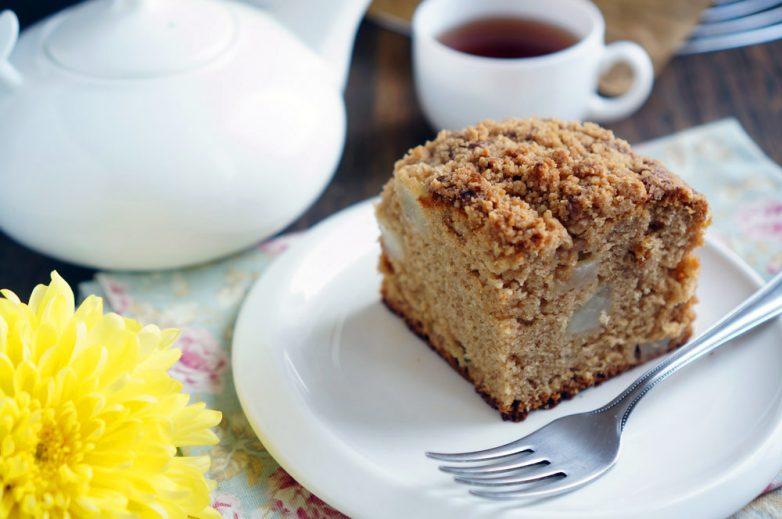 Грушевый пирог с крамблом - аппетитные фото (7)