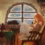 Девочка в пледе рисунки и картинки