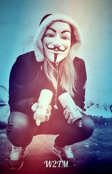 Девушка в маске фото на аву в ВК005