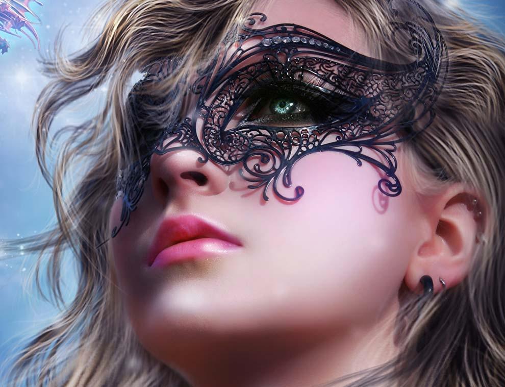 Девушка в маске фото на аву в ВК018