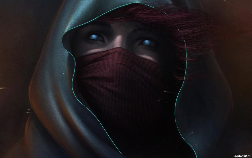 Девушка в маске фото на аву в ВК022