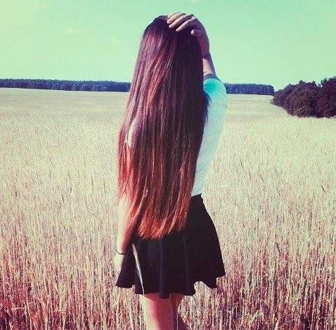 Девушка сзади фото на аву с русыми волосами003