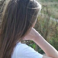 Девушка сзади фото на аву с русыми волосами008