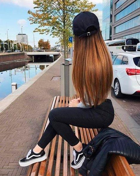 Девушка сзади фото на аву с русыми волосами010