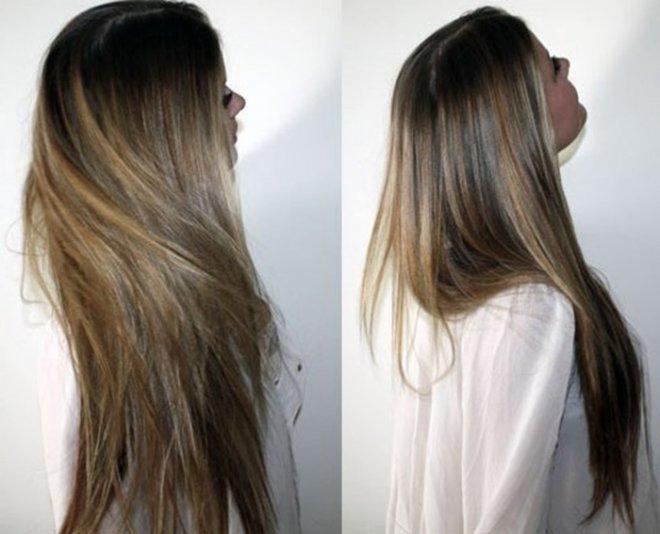 Девушки со спины осенью с русыми волосами013