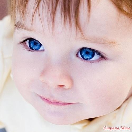 Дети маленькие с голубыми глазами011