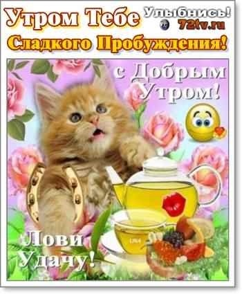 Детские картинки с добрым утром и хорошего настроения001