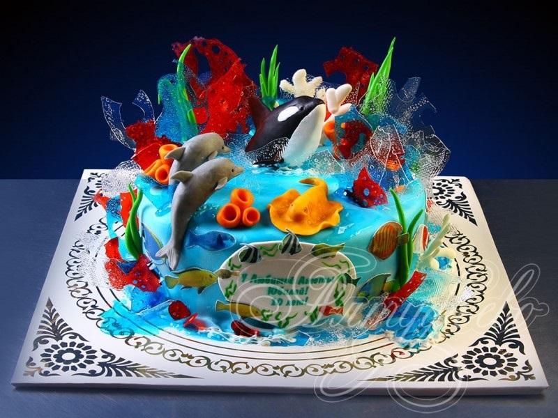 Детский торт с морской тематикой003