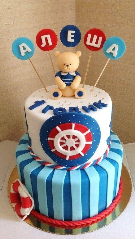 Детский торт с морской тематикой005