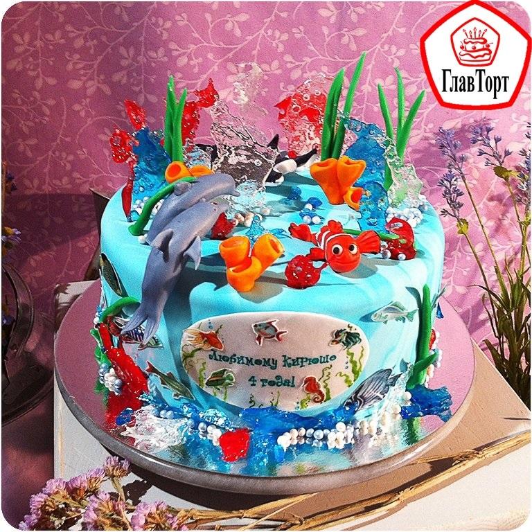 Детский торт с морской тематикой006