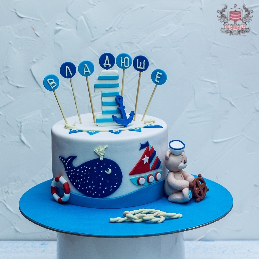 Детский торт с морской тематикой007