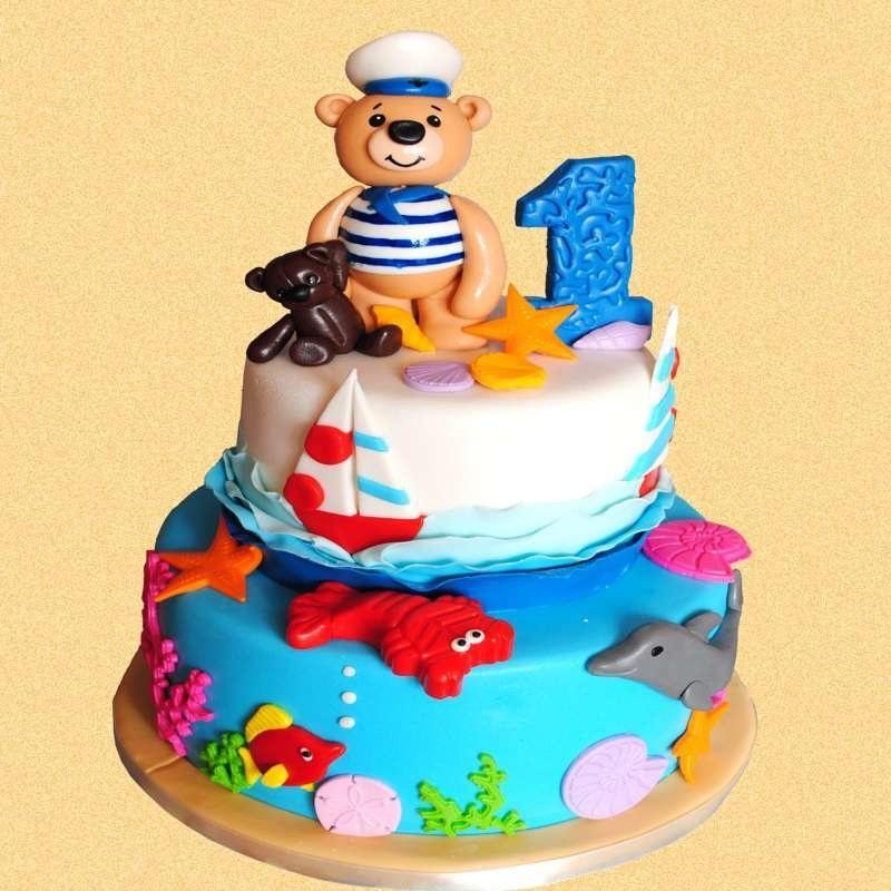Детский торт с морской тематикой008