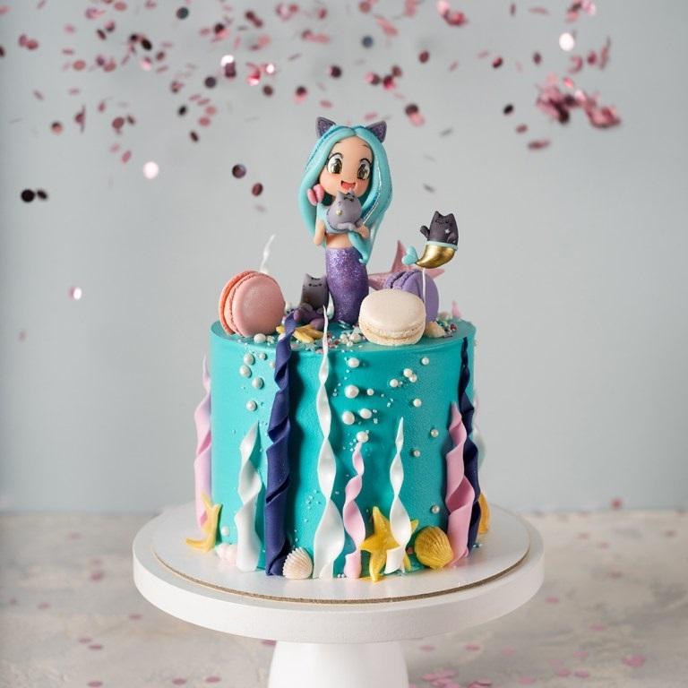 Детский торт с морской тематикой009