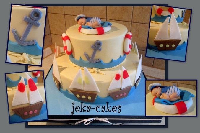 Детский торт с морской тематикой010