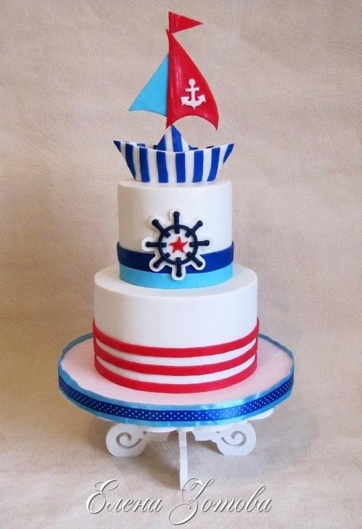 Детский торт с морской тематикой011
