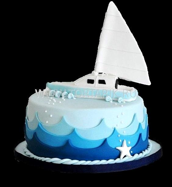 Детский торт с морской тематикой012