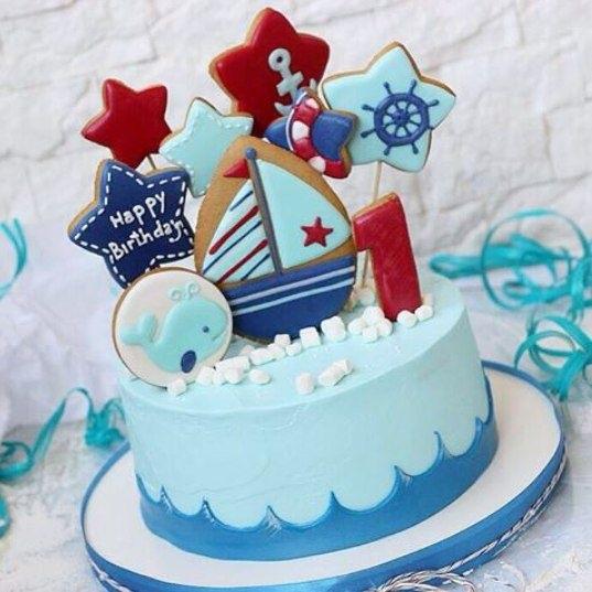 Детский торт с морской тематикой013
