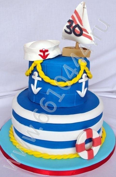 Детский торт с морской тематикой016