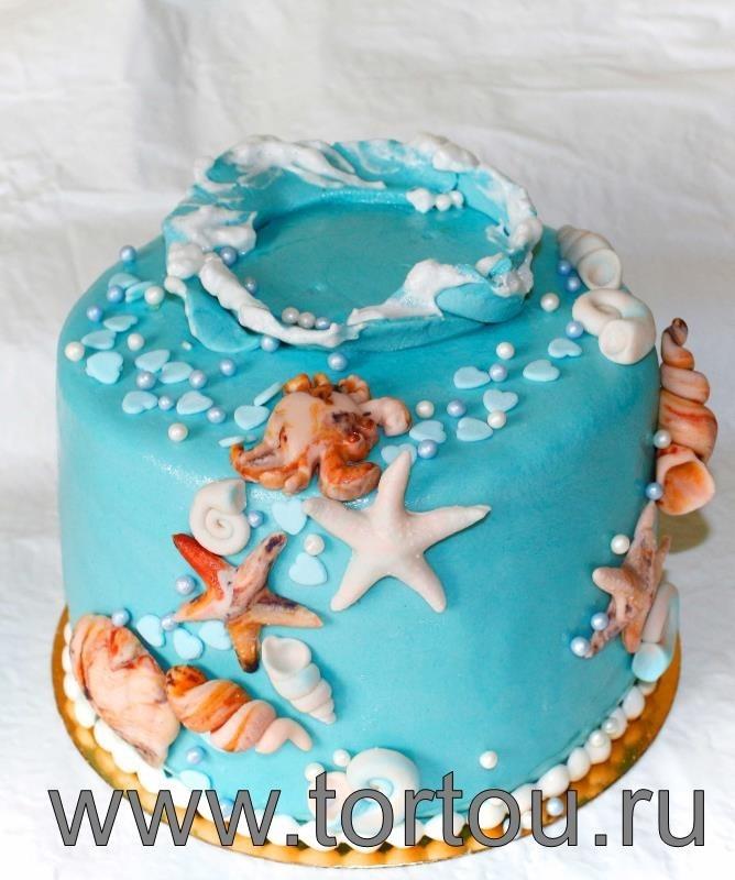 Детский торт с морской тематикой017