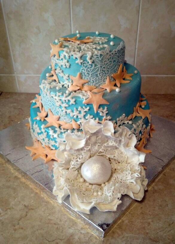 Детский торт с морской тематикой018