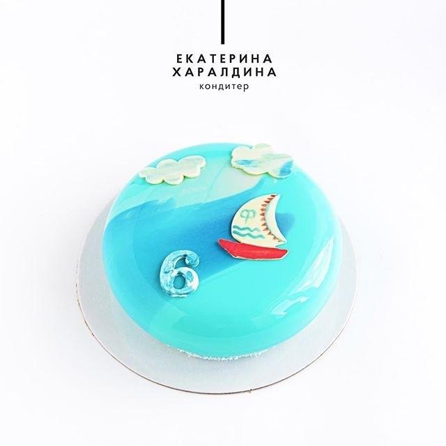 Детский торт с морской тематикой021
