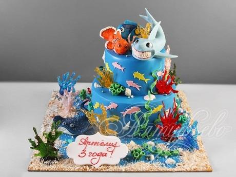 Детский торт с морской тематикой022