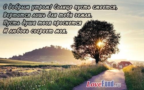 Доброе утро картинки красивые со стихами про любовь008